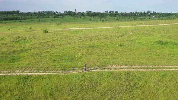 Thumbnail for Aerial View Off Road Cycling