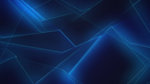 Thumbnail for Blue Glowing Lines Background Loop