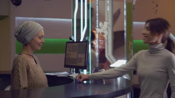 Reception Clerk Greeting Client