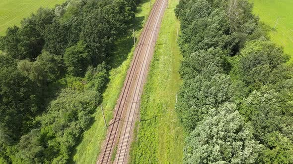Thumbnail for Train Way, Railway. Aerial.
