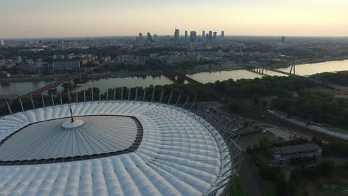 Aerial view of the National Stadium, Warsaw