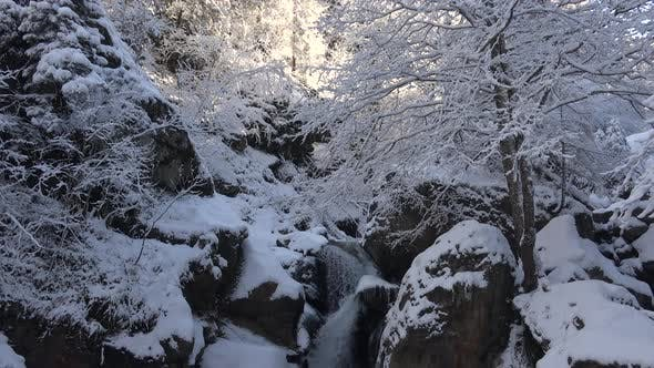 Cover Image for Snowy Waterfall