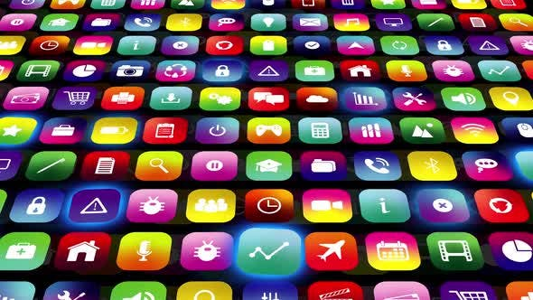 Thumbnail for Mobile Apps Icon Data Digital Technology Background