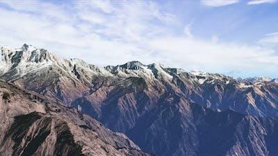 Flying By Mountain Ridge Himalayas