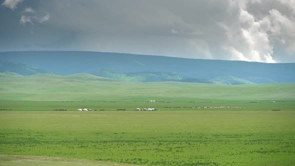 Thumbnail for Mongolian Ger Tent in Plain of Mongolia Geography