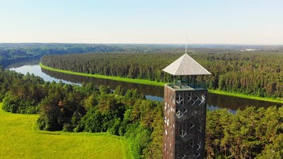 Panning View Birstonas Observation Tower