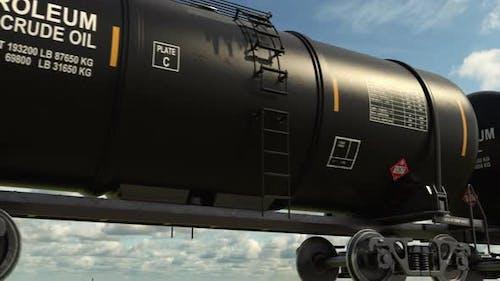 Petroleum Freight Train Transportation Crude Oil on Railroad