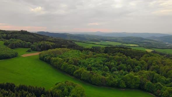 Thumbnail for Flight Over Italian Landscape Spring
