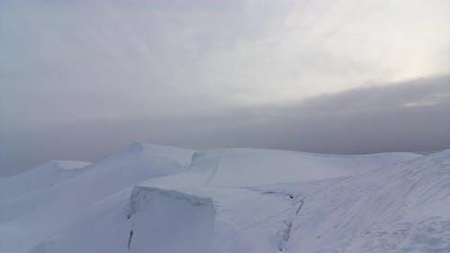 Snowy valley landscape
