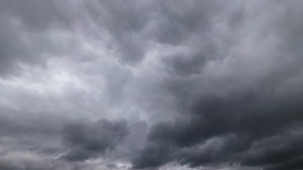 Thumbnail for Storm Clouds Are Moving in the Sky. Time Lapse