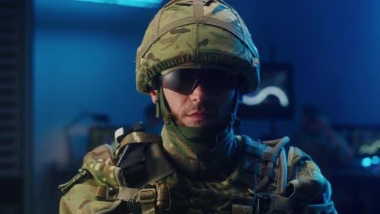 Thumbnail for Soldier Looking at Camera