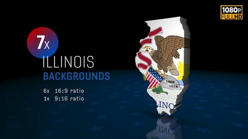 Illinois State Election Backgrounds 4K - 7 Pack