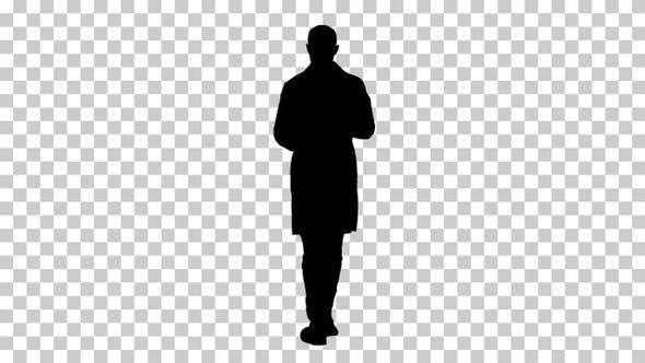 Silhouette male doctor, Alpha Channel