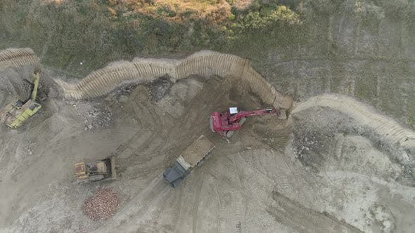 Thumbnail for High angle view of a construction site