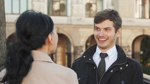 Thumbnail for The Smiling Man Has a Nice Conversation with a Woman