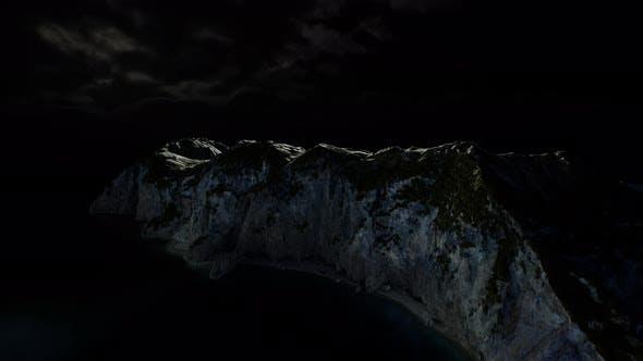 Thumbnail for Fjord mit dunklen Sturmwolken