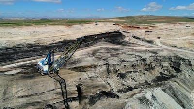 Coal Mining With Coal Machine