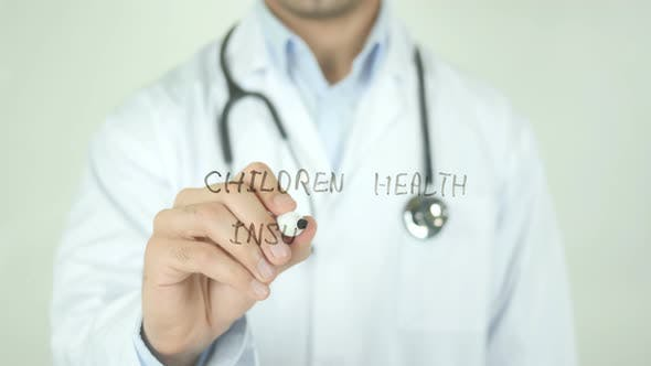Thumbnail for Children Health Insurance, Doctor Writing on Transparent Screen