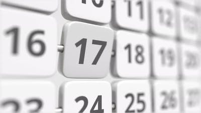 17 Date on the Turning Calendar Plate