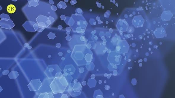 Soft Blue Hexagons Background 2
