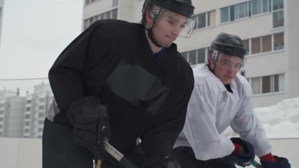 Thumbnail for Ice Hockey Player Fighting for Puck