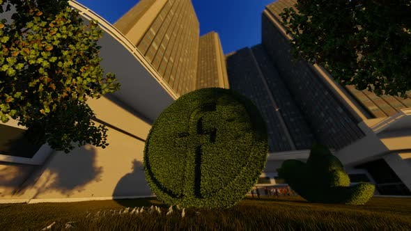 Thumbnail for Facebook Grass Logo and Skyscrapper