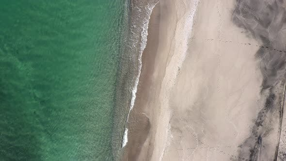 Aerial view from the air to the beach
