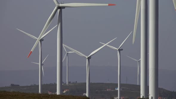 Thumbnail for Lots of Windmills or Wind Turbine in Rotation