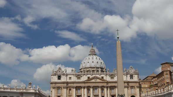 Thumbnail for Time lapse from St. Peter's Basilica in Vatican City