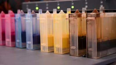 Multicolored Cartridges for Industrial Color Printers