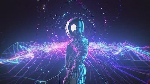 Neon Dancing Astronaut