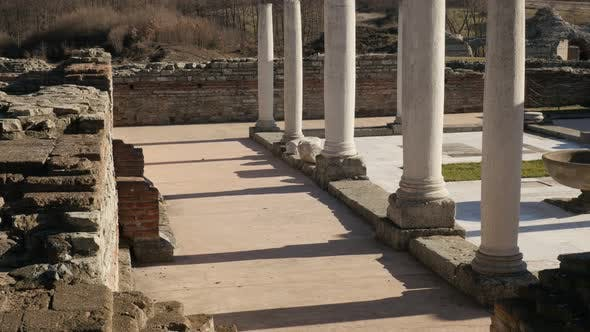 Thumbnail for GAMZIGRAD, SERBIA - DECEMBER 25, 2017  Felix Romuliana fortified palace built by Roman Emperor Galer