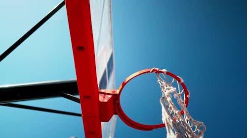Basketball Hoop Close Up Outdoors