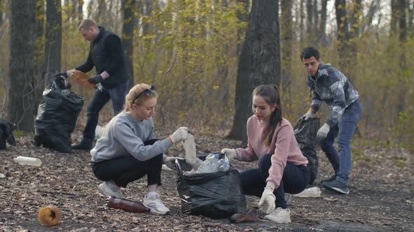 Thumbnail for Volunteers Picking Up Garbage Plastic
