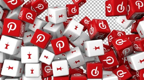 Social Media Icons Transition - Pinterest and Pinit