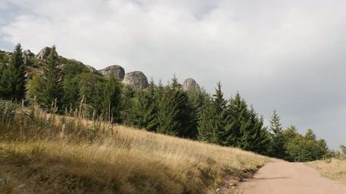 Higherst point near  Babin Zub in Eastern Serbia 4K 2160p 30fps UltraHD footage - Natural beauty of