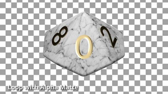 Thumbnail for White Marble D10 Die Countdown