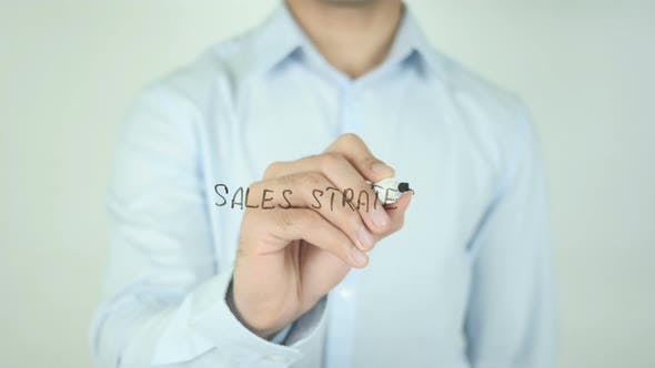 Cover Image for Sales Strategy, Writing On Screen