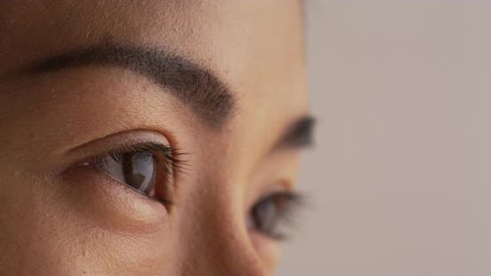 Thumbnail for Close up of Asian woman looking away