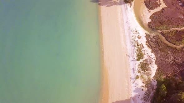 Thumbnail for Empty beach top-down aerial
