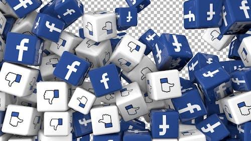 Social Media Icons Transition - Facebook, Like