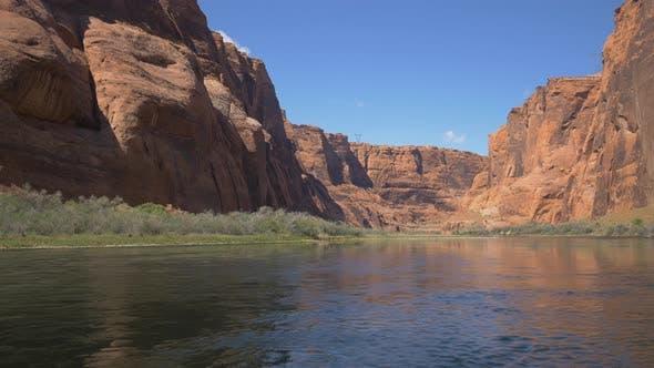 Thumbnail for Colorado River and canyon cliffs