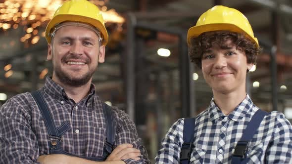 Cover Image for Smiling Male and Female Engineers Posing