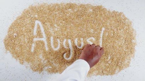 Hand Writes On Sand August