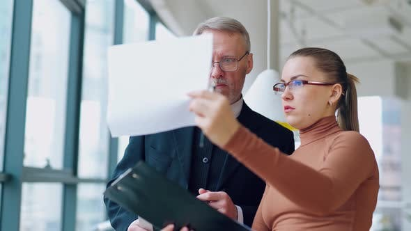 Smart secretary talks to her boss