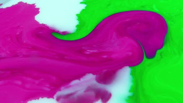 Thumbnail for Abstract Colorful Slow Motion Swirling Chemical Reaction Background Texture