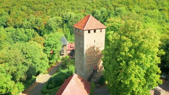 Aerial of Schaumburg Castle