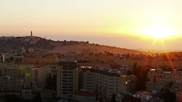 Thumbnail for Sunrise above Old City, Jerusalem 2