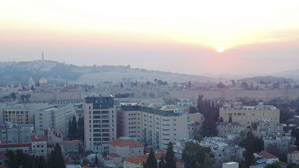 Thumbnail for Sunrise Above Old City, Jerusalem 3