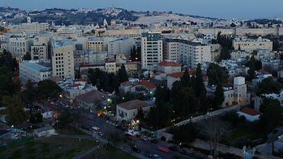 Dusk to Night Time Lapse, Jerusalem